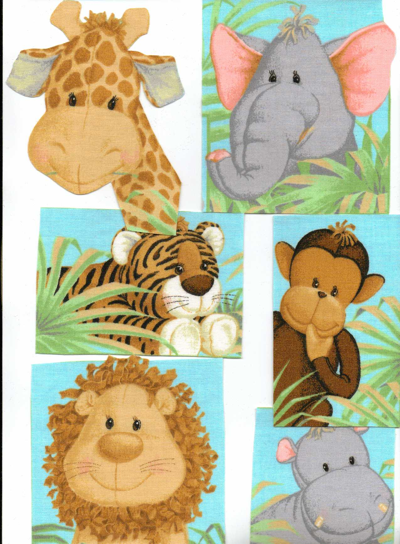 jungle babies iron on fabric appliques. Black Bedroom Furniture Sets. Home Design Ideas